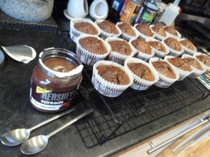 Now it's time to fill those cupcakes with a chocolate middle!